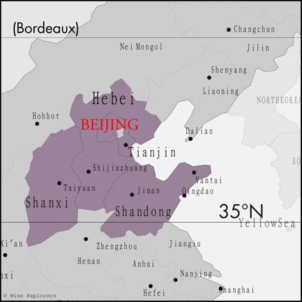 Chiny regiony winiarskie
