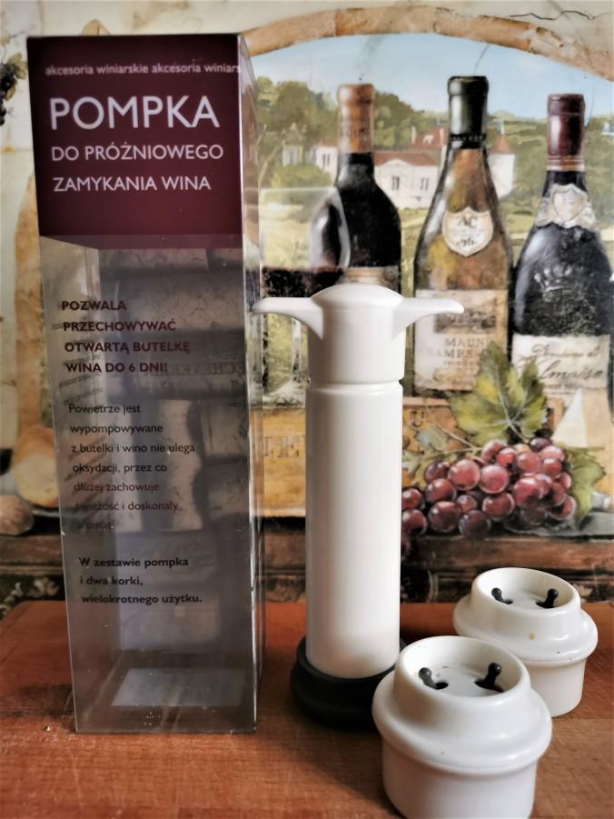 Pompka do zamykania wina